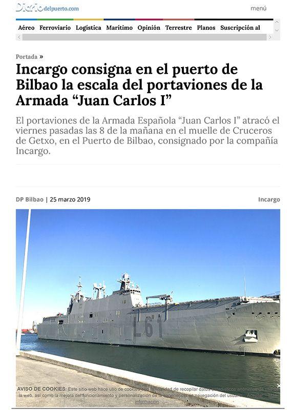 Incargo · Portaviones Juan Carlos I