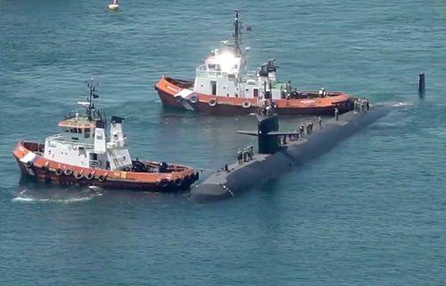 Submarino USS Olympia en Gibraltar